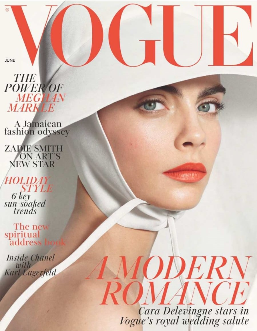 Front cover of Vogue June 2018 Edition featuring Iris Alexander's Venus Ring