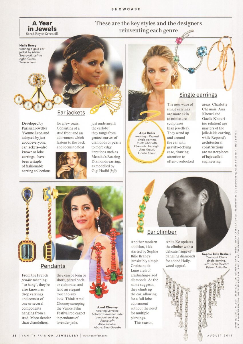 Iris Alexander Jewellery in Vanity Fair 2018 On Jewellery